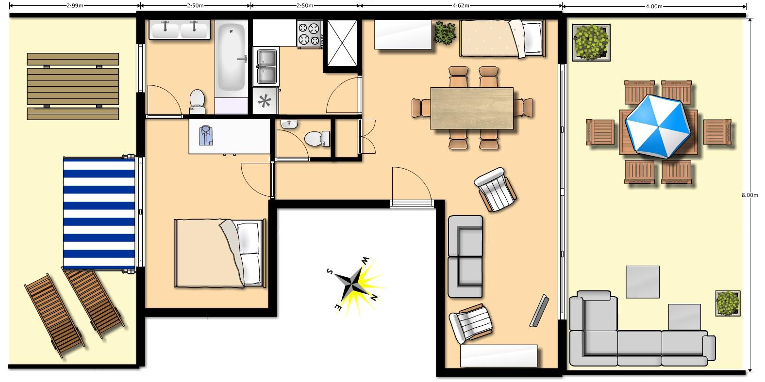 Penthouse appartement de vacances la c te - Appartement de vacances styleshous design ...